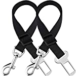 2 Adjustable Car Seat Belts for Dogs & Cats - Triple The Survival Rate in Accidents - Prevent Stress from Travel in...