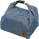 プライムナカムラ REUNION 保冷バックルバッグ (ヒッコリー) クーラーバッグ 手提げ デザイン バッグ Lサイズ(H20cm×L27cm×W21cm)