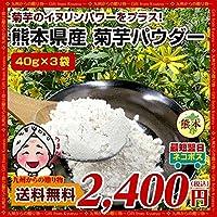 菊芋パウダー 40g×3袋 熊本県産菊芋使用 テレビや雑誌で話題 イヌリンパワーインスリン たけしの家庭の医学