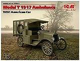 ICM 1/35 T型フォード 1917 救急車 プラモデル 35661