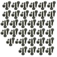 xunliuグレード14.9合金スチールscm440円柱六角ソケットヘッドローレットキャップスクリューボルトブラック M2X7(100pcs)
