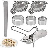 7 Pcs Dumplings Maker, Stainless Steel Pie Making Dough Press Maker Dumpling Mold Tool, Wraper Dough Cutter Pie Ravioli Dumpl