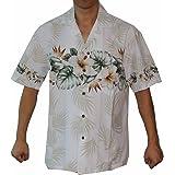 Alohawears Clothing Company Men's Hibiscus Bird of Paradise Hawaiian Aloha Luau Cruise Shirt