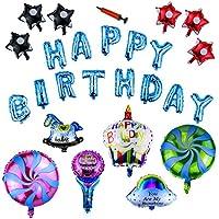 Powangle 誕生日飾り 装飾セット 風船 アルミ バルーン ハンドポンプ付き 両面テープ付き お祝い (カラフル1)
