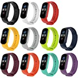 KOMI Replacement Bands, Silicone Bracelet Wristband Adjustable Sport Fitness Strap Compatible for Xiaomi Mi Band 5(11pcs)