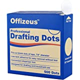 Professional Drafting Dots 500 pcs - Low Tack Pre-Cut Blank Tape - Easy to Use, for Drawing, Blueprint, Artist, Architect