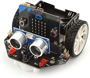 micro: Maqueen micro:bit 教育プログラミングロボットプラットフォーム (micro:bit ボード付き)