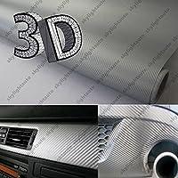 8ft x 5ftダークグレーtwill-weave 3dカーボンファイバービニールフィルムラップシートwithエアリリースポケットバブルフリー