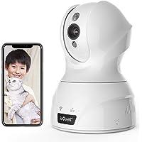 【最新強化版500万画素】ieGeek ネットワークカメラ ペットカメラ IP防犯監視カメラ ベビーモニター wifiカ…