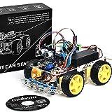 OSOYOO オープンソース ロボットカー 電子部品 スターターキット Arduino適用チュートリアル付 超音波測定 障害物回避 追跡 Android APPでコントロール 教育ロボット (V1)