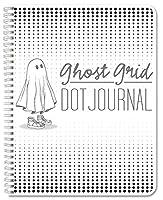 "BookFactory ゴーストグリッドドットジャーナル/ノートブック120ページ O-リング(JOU-120-7CW-A(DotJournal)) 120 Pages 5.5"" x 8.5"" グレイ"