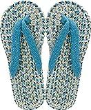 現代百貨 コットン サンダル メンズ フリーサイズ ライトブルー