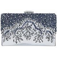 Bagood Women's Handmade Beaded Embroidery Crystal Evening Bag Party Handbag Shoulder Clutch Purse