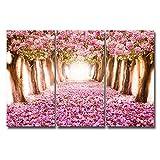 Royllent アートパネル インテリア 「自然風景」キャンバス絵画 3パネルセット壁掛け 壁飾り DIYの楽しみ! (A)