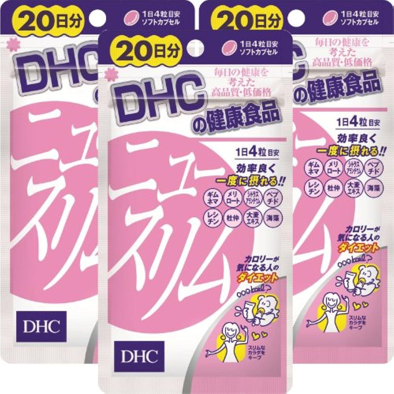 ニコチンフェミニン小切手DHC ニュースリム 20日分(80粒)×3個