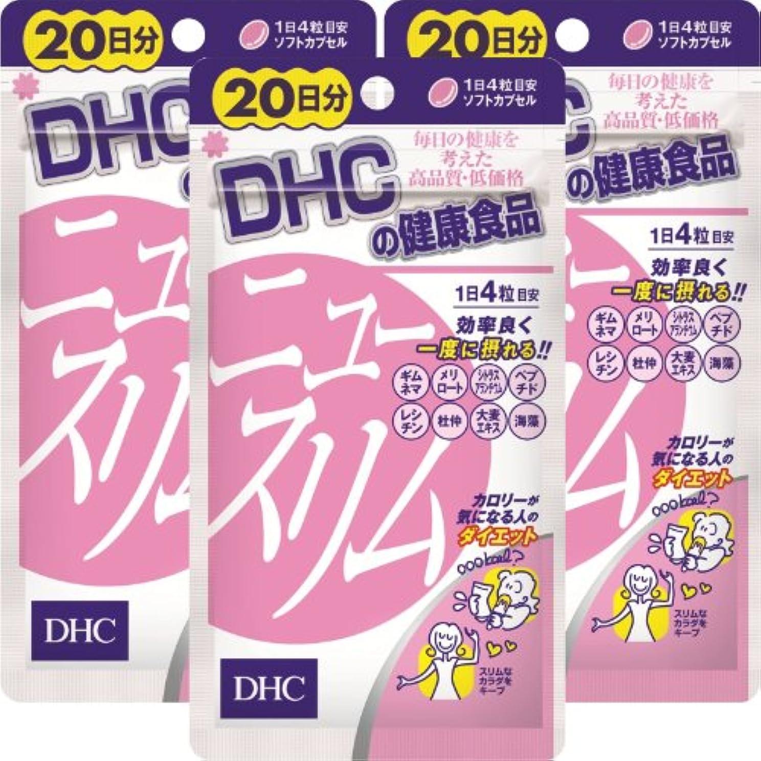 煩わしい寄付するクリケットDHC ニュースリム 20日分(80粒)×3個
