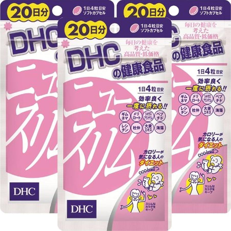地下取り消す厳DHC ニュースリム 20日分(80粒)×3個