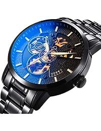 BesTn出品 腕時計 機械式 メンズ 自動巻き スポーツ ビジネス 凸凹 格好良い アンティーク 夜光