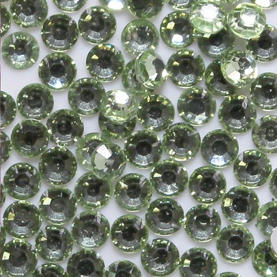 褐色カウント小競り合い高品質 アクリルストーン ラインストーン ラウンドフラット 約1000粒入り 3mm クリソライト