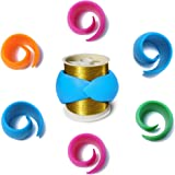 Hulameda 48 Pcs Peels Thread Spool Huggers to Prevent Thread Unwinding and Keep Thread Tails Under Control