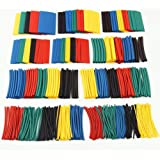 EZONEDEAL 164PCS Heat Shrink Tubings 2:1,Wire Cable Wrap Assortment Tube Sets Electric Insulation Heat Shrink Tube Kit