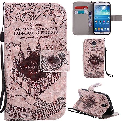 Ooboom Samsung Galaxy S4 ケース 手帳型 横開き カバー 革 マグネット式ド収納 スタンド機能 財布型 カード おしゃれ フリップ ために Samsung Galaxy S4 - 城