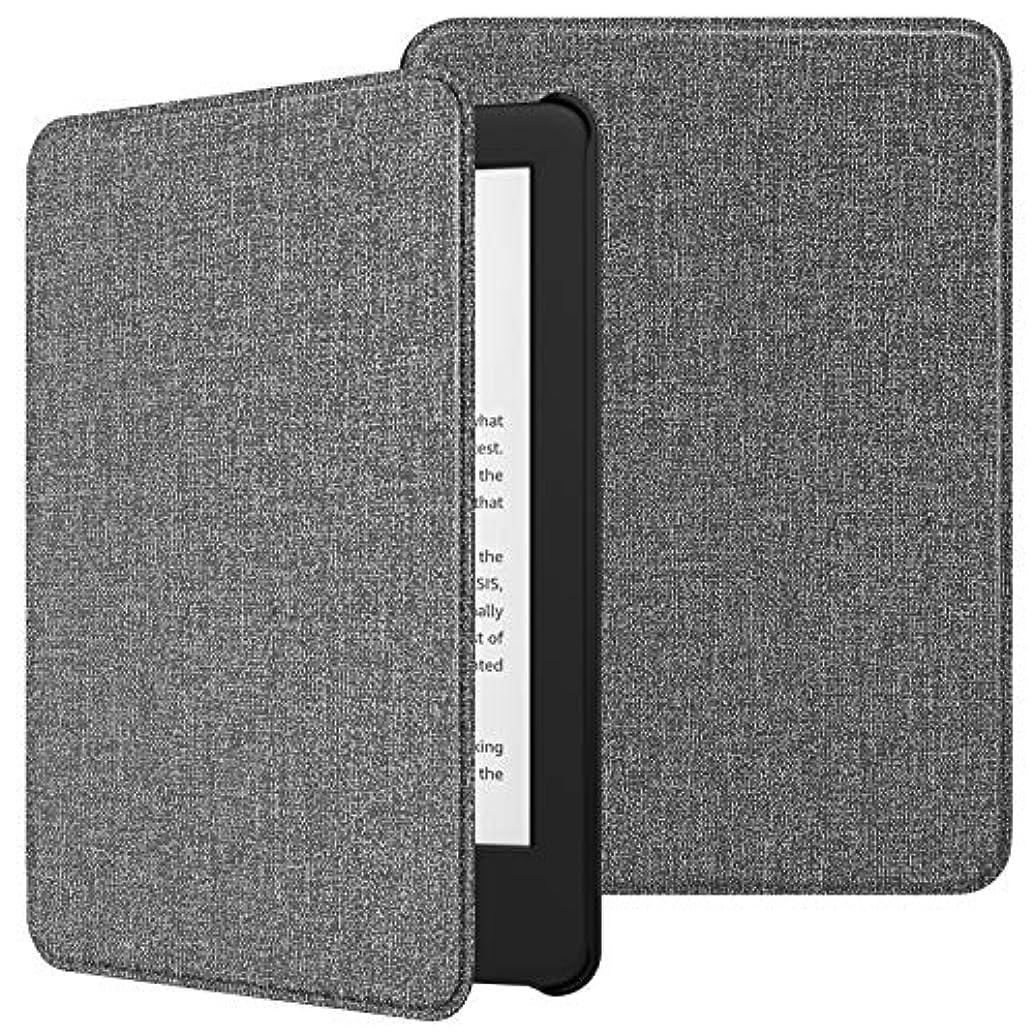 磁気広範囲敬TiMOVO Amazon Kindle 第十世代 Newモデル ケース キンドル2019年発売専用カバー 高級PUレーザー オートスリープ機能 全面保護 耐衝撃 軽量 薄型 Jeans Gray(Kindle Paperwhite に対応できません )