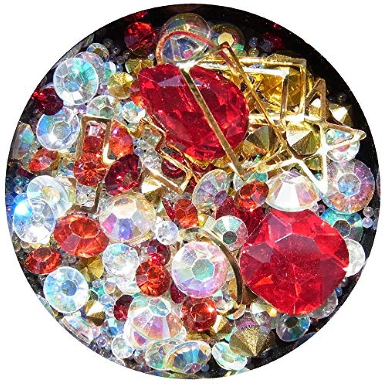 略す郵便局売る【jewel】メタルパーツ ミックス ラインストーン カーブ付きフレーム ゴールド ネイルアートパーツ レジン (5)