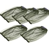 CLISPEED 5pcs Mosquito Head Net Face Mesh Net Head Protecting Cover for Mosquito Gnat and Other Flies Bug Net Outdoor Hiking