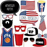 Red Party Cup - Photo Booth Props Kit - 20 Count