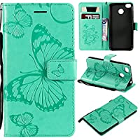 Xiaomi Redmi 4X case, Phoebe ケーススリム Xiaomi Redmi 4X ケーススリム Built-in Stand Function for Xiaomi Redmi 4X – Green Leather