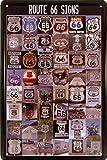 【 アメリカンブリキ看板 】 ルート66 標識コレクション ROUTE 66 SIGNS サイズ:約20センチ×約30センチ。