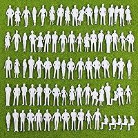 P50B-100 人形 人物 人々 人間 人間フィギュア 未塗装 情景コレクション ザ ? 鉄道模型?ジオラマ?建築模型?電車模型に 35㎜ スケール:1/50 100個セット