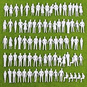 P50B-100 人形 人物 人々 人間 人間フィギュア 未塗装 情景コレクション ザ ・ 鉄道模型・ジオラマ・建築模型・電車模型に 35㎜ スケール:1/50 100個セット