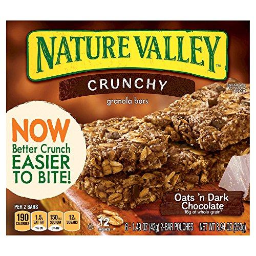 Nature Valley Crunchy Oats 'n Dark Chocolate Granola Bars 42gx6 ct (253g) x3箱 ネイチャーバレークランチーズオーツンダークチョコレートグラノーラバー [並行輸入品]