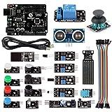 サインスマート 20センサーモジュール Arduinoはじめよう 互換キット (UNO R3 + リレー + HC-SR04 ) 初心者向けのチュートリアルPDF提供!for Arduino