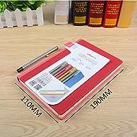 ラグジュアリー品質カテゴリーノートブックステッカー厚いインデックスメモ帳ラベルビジネスオフィス学生用紙表面 , 40k charm red single pack (send signature pen)
