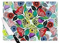 "KESS InHouse Famenxt""Fresh Spring Flowers"" Multicolor Floral Cutting Board, 11.5 x 15.75"", Multicolor [並行輸入品]"