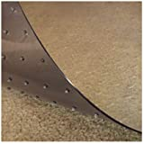 Resilia - Deluxe Clear Vinyl, Plastic Floor Runner/Protector for Deep Pile Carpet - Non-Skid, Textured Pattern, (36 Inches Wi