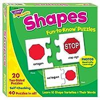 トレンド 英単語 パズル 形 Trend Fun to Know Puzzles Shapes T-36008