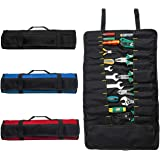 ZffXH Tool Roll Organizer Bag Oxford Fabric 22 Pockets Handy Wrench Pouch Electrician-Tools not Included-Black