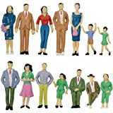 P2501 14pcs Model Trains Architectural 1:25 Scale Painted Figures Scale G Sitting and Standing People Model Railway Layout Ne