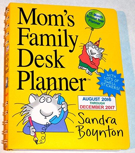 Mom's Family Desk Planner August 2016 Through December 2017 Calendar