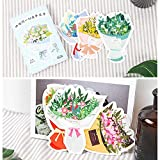 ダイカット ポストカード 型抜き 30枚 セット ( フラワーブーケ ) おしゃれ かわいい グリーティングカード メッセージカード 画像