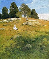 手描き-キャンバスの油絵 - Summer Afternoon Shinnecock 風景画 Julian Alden Weir 芸術 作品 洋画 ウォールアートデコレーション -サイズ01