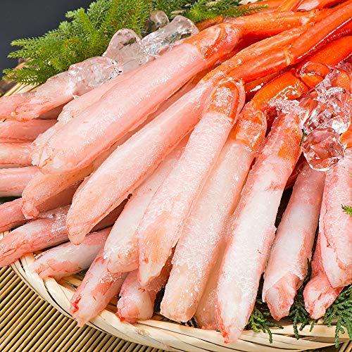 刺身用 北海道産 紅ズワイガニ 3L~4L 南蛮付 極太ポーション 1kg 36~40本(生食 むき身 一番脚 ギフト)