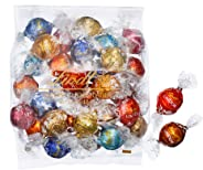リンツ (Lindt) チョコレート リンドール 10種類アソート 詰め合わせ [Aタイプ] 個包装 30個入り (ミニリーフレット付き)