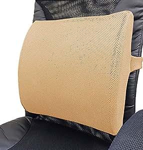 腰痛腰当てクッション:NEWランバーサポートクッション(クールメッシュタイプ) (ベージュ)
