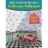 Mid-Century Modern Dollhouse Wallpaper: Color & Cut