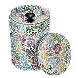DJHbuy 茶筒 ダブル蓋 茶葉 小物入れ 保存容器 8.8 x 6.3cm